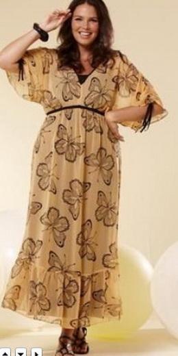 Летние платья для полных - фото.