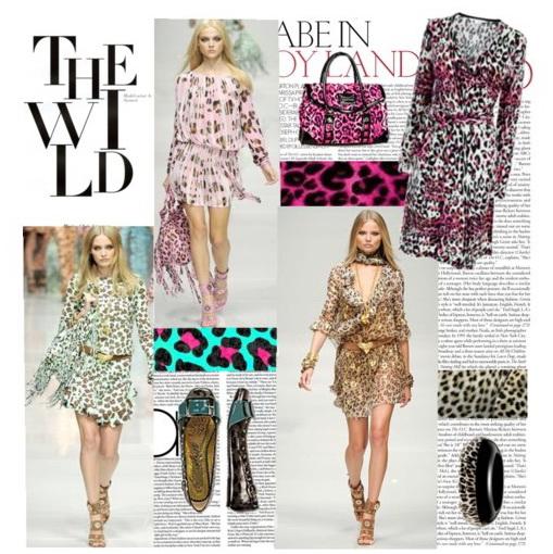Леопардовое платье - фото.