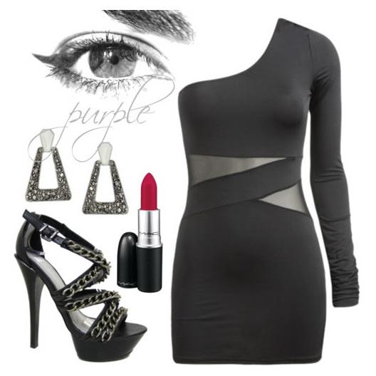 Клубная одежда: платье, юбка, топ.
