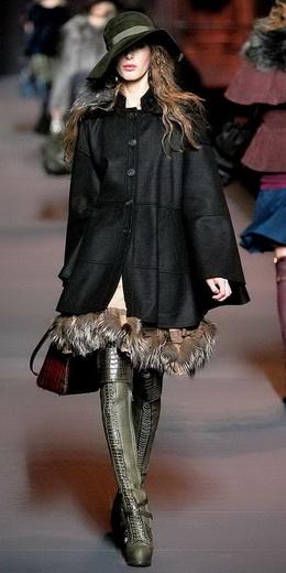 Метки. мода зима 2011. мода зима 2012. пальто.  Christian Dior.