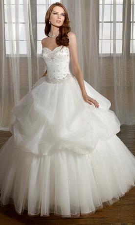 пышное свадебное платье 2012.
