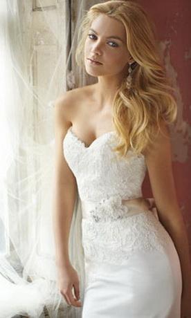 Самые красивые пышные свадебные платья 2012.