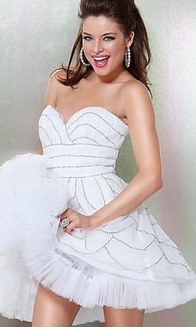 Платье мини для выпускного 2011.