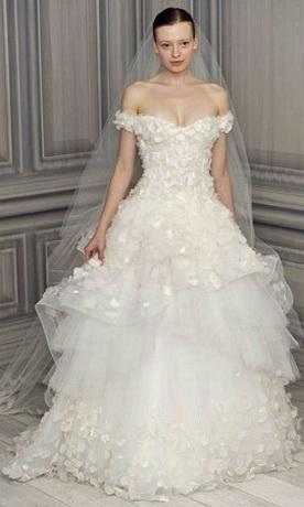 Фото красивых свадебных платьев 2012.