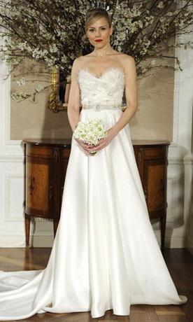 Свадебная мода весна - лето 2012: свадебные платья А-силуэта - модный...