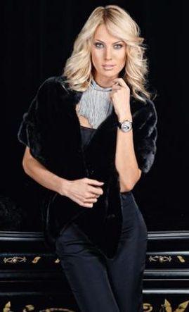 Палантин из меха норки blackglama Crystal .  Fashion Furs.