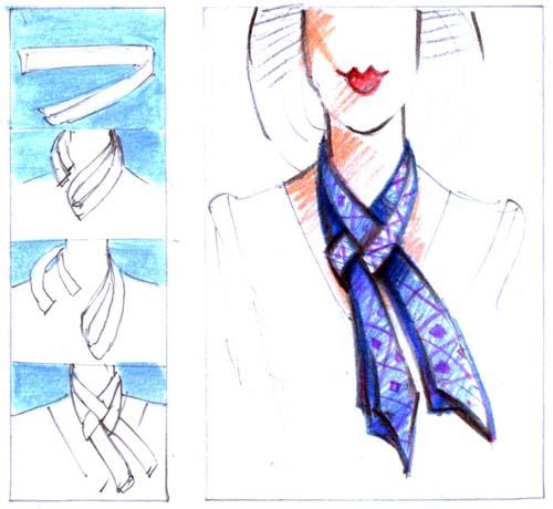 Как завязать шарф, способы завязывания шарф The Scarf...