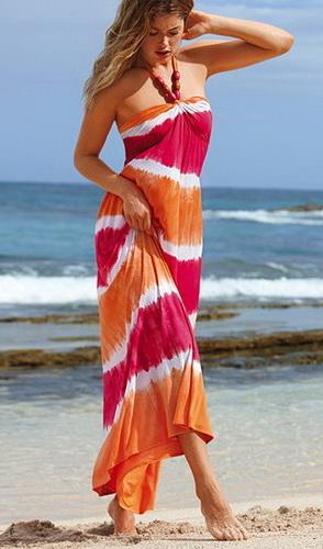 Длинные платья в стиле casual хорошо сочетаются с большими...