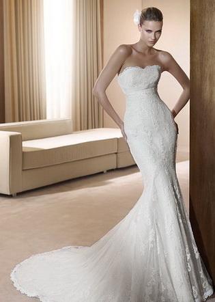 Свадебное платье 2011 - русалка (фото)