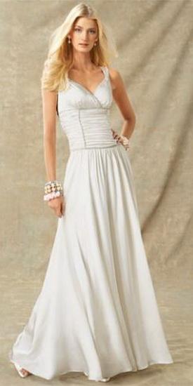 платье в греческом стиле с перчатками.