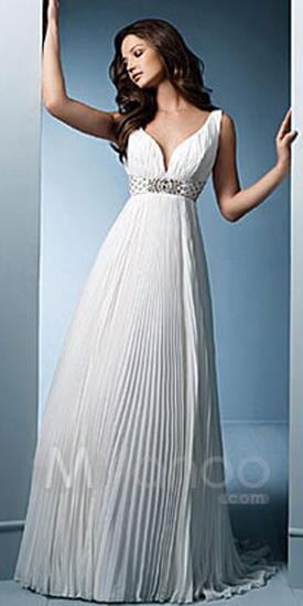 Свадебные платья в греческом стиле.  Фото модных греческих платьев.