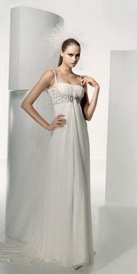 """далее.  Свадебное платье в стиле  """"ампир """". нежный Очень шифон."""