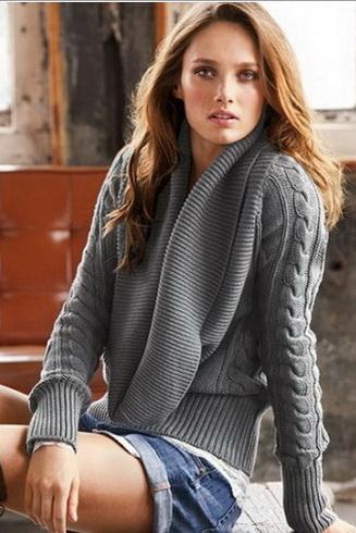 Сборка вязаной кофты.
