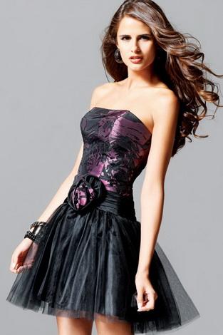 Короткие вечерние платья - фото.