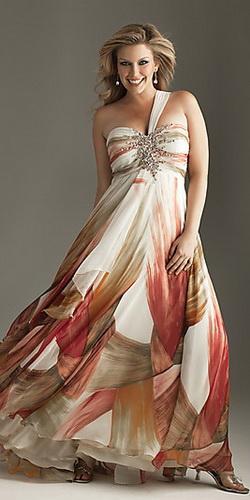 Новогоднее платье для полных.