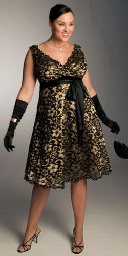 Вечерние платья для полных девушек и женщин.  Модели и фасоны вечерних...