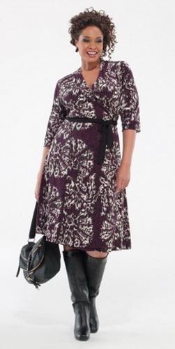 модные платья для полных дам 2012 фото В.