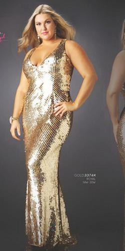 Описание: Модные платья для полных девушек 2011.