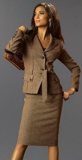 ...имидж деловой женщины, то его можно охарактеризовать...
