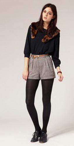 Носим шорты осенью, зимой и весной - фото.