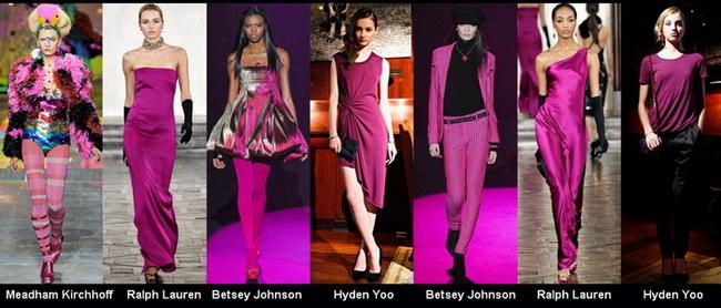 Модные цвета осень-зима 2012-2013: фиолетово-розовый, розовый.